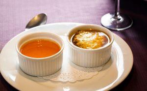Dúo de bisquet de cangrejo y sopa de tortilla